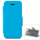 Protective Flip Open Case w/ Stand / Card Slots for Iphone 5C - Blue