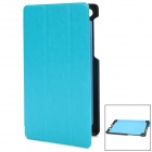 Protective PU Leather + PC Flip Case for Google Nexus 7 II - Blue + Black