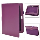 Protective PU Leather Flip Case for Sony Xperia Tablet S - Purple