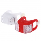 Lichao 20lm 3-Mode 2-LED Bike Safety Frog Lamp - White + Red (2 x CR2032)