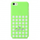 Hollow-Out Round Hole Style Protective Plastic Back Case for iPhone 5c - Green