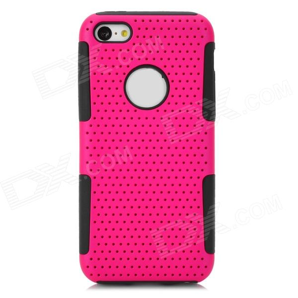все цены на Detachable 2-in-1 Protective PC + Silicone Back Case for Iphone 5C - Deep Pink + Black онлайн