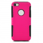 Detachable 2-in-1 Protective PC + Silicone Back Case for Iphone 5C - Deep Pink + Black