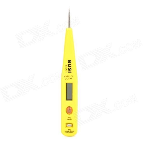 20085 Digital AC/DC12V~250V Voltage Measuring Tool Test Pencil - Yellow + Black