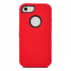 Protective Plastic + TPU Back Case for iPhone 5c - Red + Black