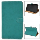 Protective PU Leather Flip Case for Samsung Tab3 T310 / T311 - Green