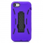 2-in-1 Protective Silicone + TPU Back Case w/ Stand for Iphone 5C - Deep Purple + Black