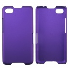Fashionable Super Thin Protective Glaze PC Back Case for BlackBerry Z30 - Purple