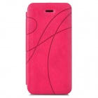 Protective Flip Open PU Leather Case for Iphone 5C - Deep Pink