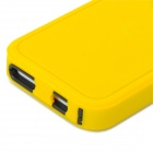 Protective Plastic + TPU Back Case for Iphone 5C - Yellow + Black