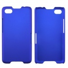 Fashionable Super Thin Protective Glaze PC Back Case for BlackBerry Z30 - Blue