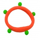 Fluorescent Rubber Band Hair Band / Hair Rope Headdress - Orange + Green