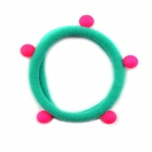 Cute Little Dark Green Rubber Band Ball Fluorescence Tousheng Hair Band / Hair Rope Headdress