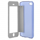 Protective PU Leather + Plastic Case w/ Display Window for Iphone 5C - Blue