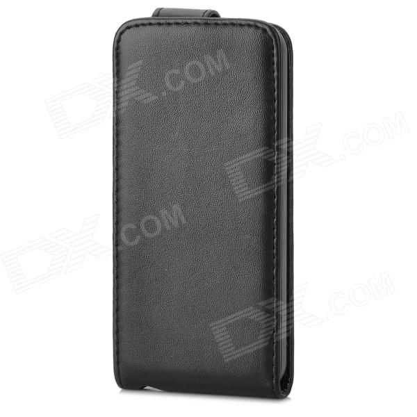 Protective Flip-Open PU Leather Case for Iphone 5C - Black protective pu leather flip open case for iphone 4 4s black
