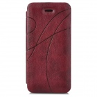 Printing Pattern Protective Flip Open Case for Iphone 5C - Red Brown