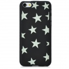 Glow-in-the-Dark Five-Pointed Star Style Protective PC Back Case for Iphone 5C - Black + Green