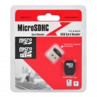 World's Smallest MicroSD TransFlash TF SD/SDHC USB 2.0 Card Reader Keychain