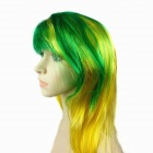 Cool Nylon Wig for Brazilian World Cup Fans - Yellow + Green