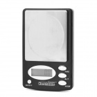 """CS-9127 1.4"""" LCD Precise Electronic Pocket Scale - Silver + Black (0.4g / 600g / 2 x AAA)"""