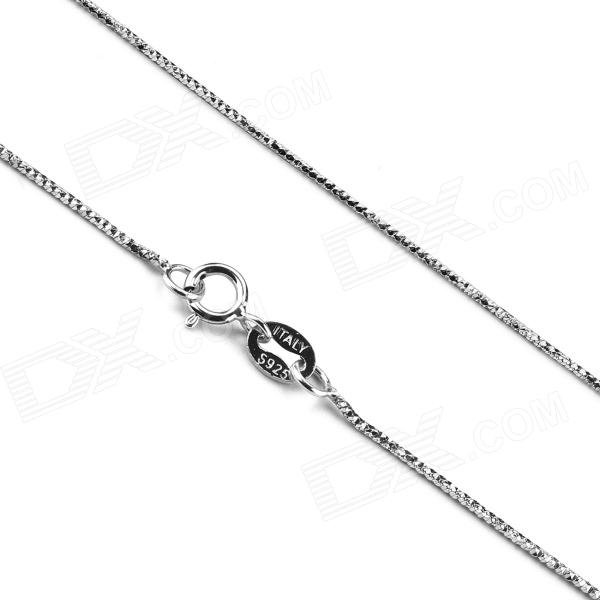 eQute CSIW21S1 S925 Sterling Silver Starlight Chain Necklace - Silver (16) equte s925 sterling silver long six sides cylindrical chain necklace silver 16