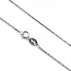 "eQute CSIW21S1 S925 Sterling Silver Starlight Chain Necklace - Silver (16"")"