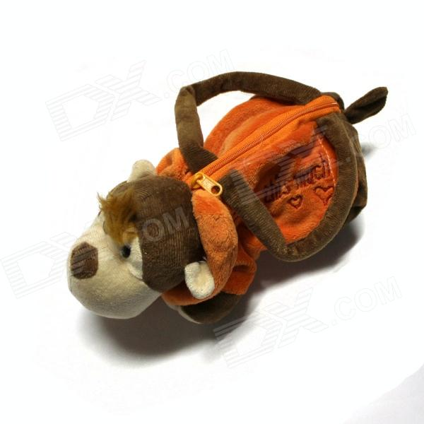 Cute Monkey Doll Handbag - Brown + Orange