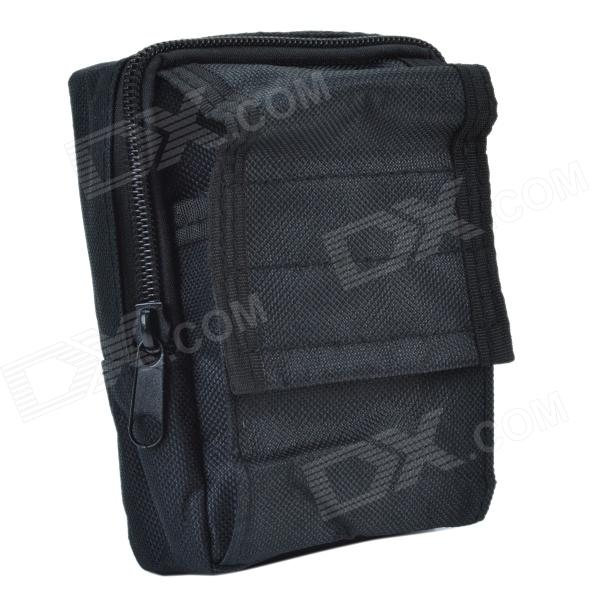 800D Waterproof Fabrics Waist Bag for Investation Tools - Black