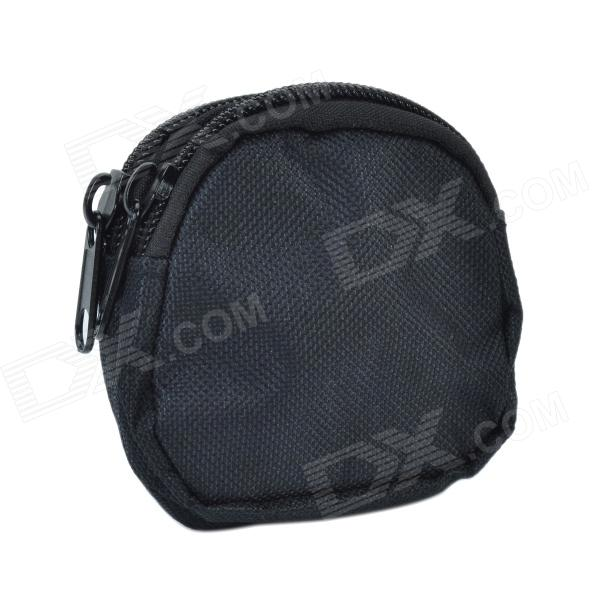 800D Waterproof Fabrics Mini Outdoor Accessories Bag / Carry-on Wallet - Black