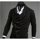 WY30 Fashionable Leisure Hooded Cardigan for Men - Black (Size-L)