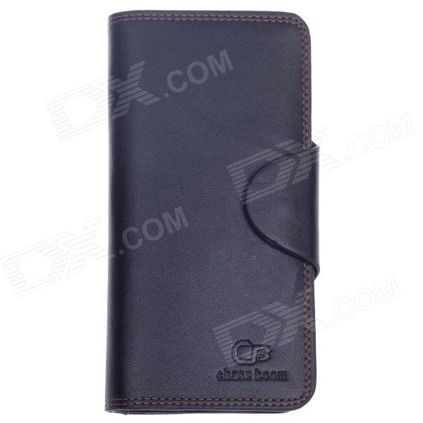 WEIJUESHI WT832 Fashionable PU Leather Long Style Folding Men's Wallet - Black