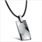 WX632 Fashionable Tungsten Steel Magnetic Health Care Necklace - Silver + Black