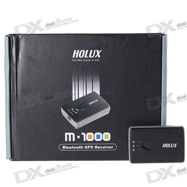 HOLUX M-1000 32-Channel Bluetooth Car GPS Receiver