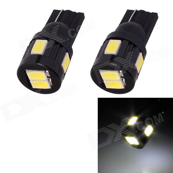 T10 3W 144lm 6 x 5630 LED SMD White Light Car Turn Signal luz de estacionamento Corner - (DC 12V / 2 PCS)