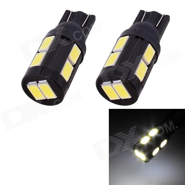 T10 5W 240lm 10 x SMD 5630 LED White Light Car Turn Signal Corner Parking Lamp - (DC 12V / 2 PCS)