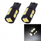 T10 5W 240lm 10 x SMD 5630 LED White Light Car Turn Signal luz de estacionamento Corner - (DC 12V / 2 PCS)