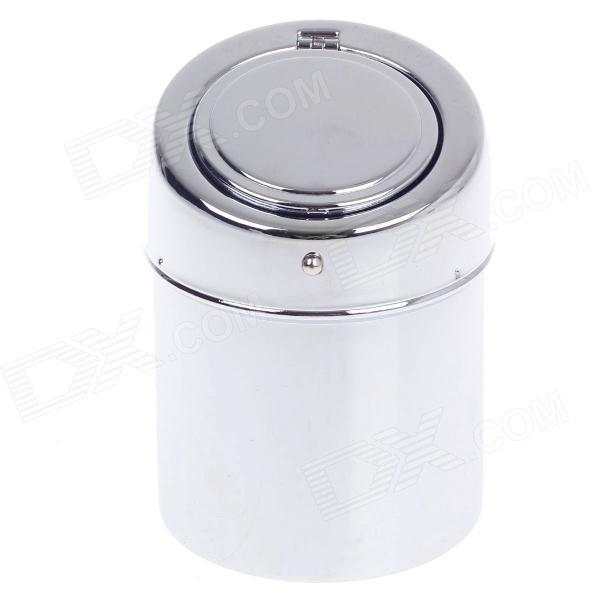 635AD Creative Hand Control Button Zinc Alloy Spring Lid Ashtray - Silver fashionable dice style shiny crystal decorated zinc alloy ashtray silver