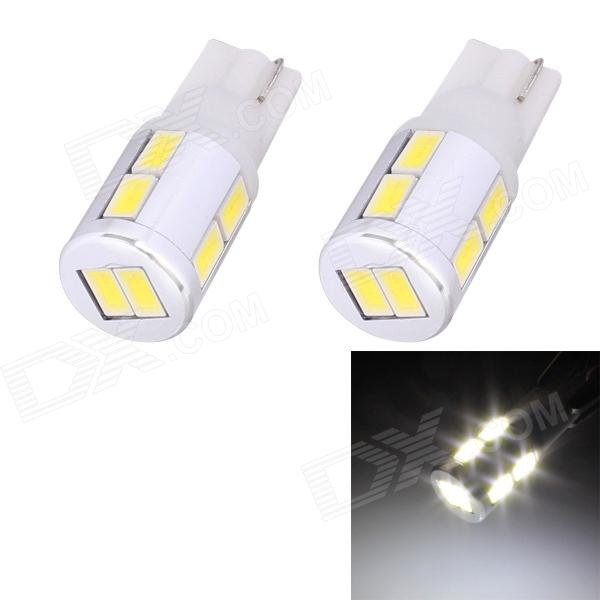 T10 5W 240lm 10 x SMD 5630 LED White Light Car Turn Signal Corner Parking Lamp - (DC 12V / 2 PCS) 1056 auto bulbs py21w s25 led 3014 smd car tail bulb turn signal auto reverse lamp daytime running light amber white yellow