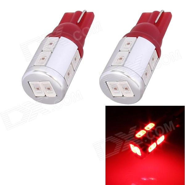 T10 5W 240lm 10 x SMD 5630 LED Red Light Car Turn Signal Corner Parking Lamp - (DC 12V / 2 PCS)