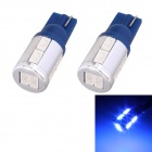T10 5W 240lm 10 x SMD 5630 LED Blue Light Car Turn Signal Corner Parking Lamp - (DC 12V / 2 PCS)
