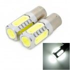 exLED 1156 7.5W 500lm 5-LED White Light Car Backup Light - (12V / Pair)