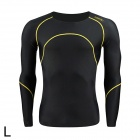 Santic MN120257 Quick Dry Elasticity Cycling Thermal Underwear - Black (L)