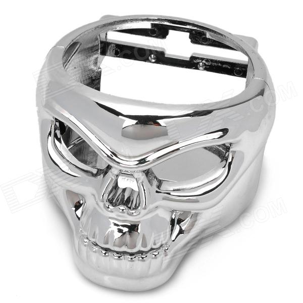 AC-2119 Skull Style ABS Hanging Car Mount Water Bottle Holder - Silver