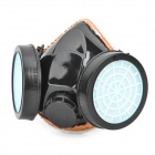 Activated Carbon Double Chemical Gas Respirator Dust Filter Mask - Black + Light Blue