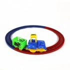 Plasitc Railcar Toy - Blue + Red + Yellow + Green