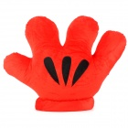 Big Hand Palm Style Plush Pillow Cushion Warm Glove - Red