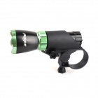 Soldier SJ-1006B 100lm 3-Mode Bicycle Light w/ Cree XP-E Q5 - Black + Green (3 x AAA)