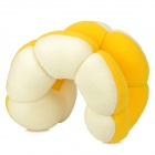 Flower Style Multi-Functional Plush + Foam Particles Neck / Seat Cushion Pillow Toy - Yellow