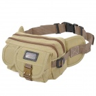 Causal Style Outdoor Sports Canvas Waist Bag - Beige