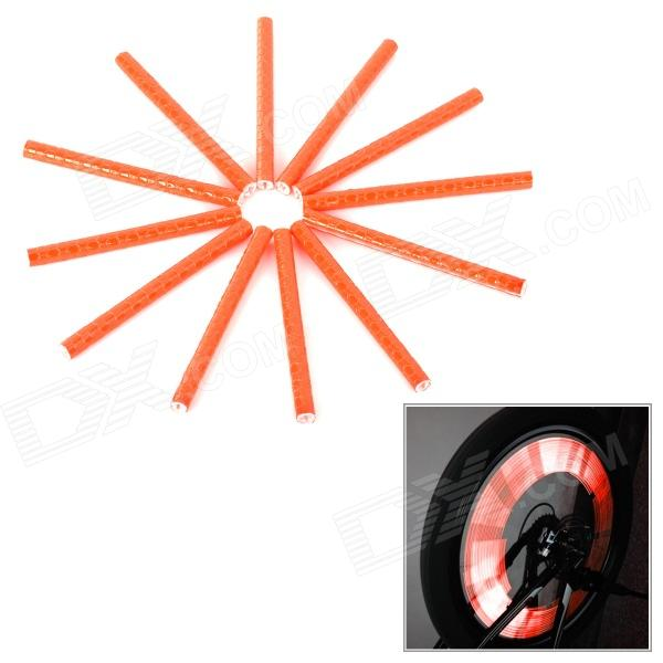 Bike Bicycle Reflective Spoke Clip Stripe - Orange Red (12 PCS) laura mcdonald j lootcamp 4 weeks to reducing debt and increasing your financial fitness